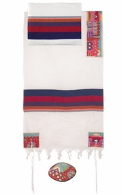 "Jerusalem in Color Tallit CAT# THE- 4 , 61"" X 75"""