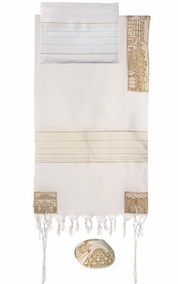 "Jerusalem in Gold Tallit CAT# THE- 3 , 42"" X  75"""