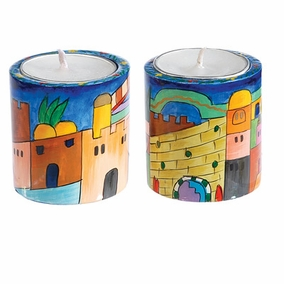 Jerusalem Round Candlesticks - Small CAT# RCS- 1