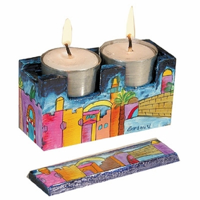Jerusalem Travel Candlesticks CAT# TCS- 1