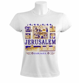 Jerusalem View Women T-Shirt