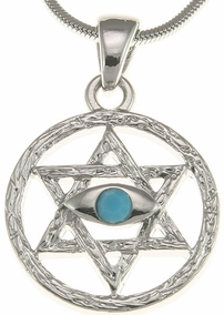 Judaism Eye Pendant
