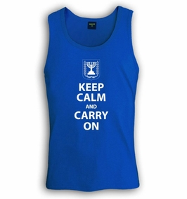 Keep Calm and Carry On Singlet