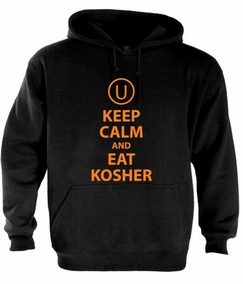 Keep Calm and Eat Kosher Hoodie