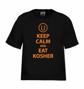 Keep Calm and Eat Kosher Kids T-Shirt
