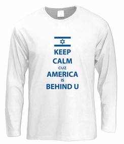 Keep Calm cuz America is Behind U Long Sleeve T-Shirt