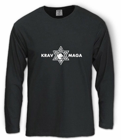 Krav Maga Casual Star of David Long Sleeve T-Shirt