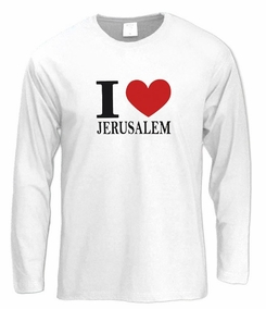 Love Jerusalem Long Sleeve T-Shirt