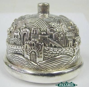 Marvelous Sterling Silver Jerusalem Honey Dish