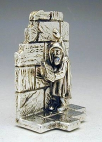 Miniature Of An Old Man Praying At The Western Wall