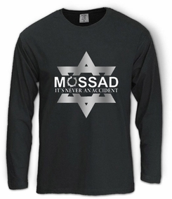Mossad - It's Never an Accident Long Sleeve T-shirt