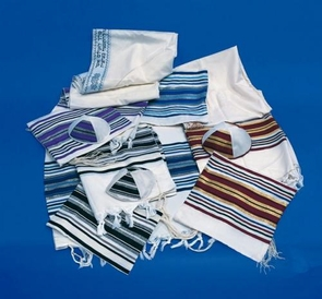 """Noy"" Traditional Jewish Tallit with 8 tzitziot for adults 130X180cm"