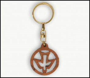 olive wood key chains KCH-001