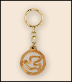 olive wood key chains KCH-002
