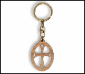olive wood key chains KCH-008