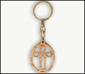 olive wood key chains KCH-017