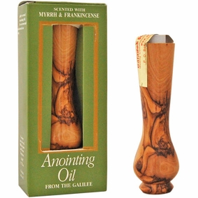 Olive Wood -  Myrrh and Frankincense Anointing Oil