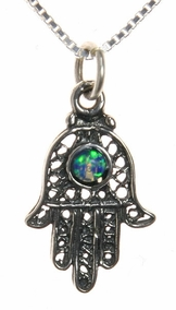 Opal Khamsa Necklace