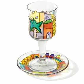 Painted Wineglass and Saucer CAT# GC- 6