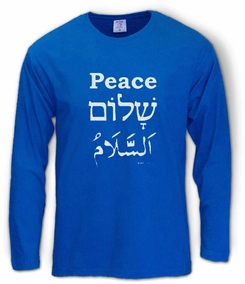Peace Shalom Salam Long Sleeve T-Shirt