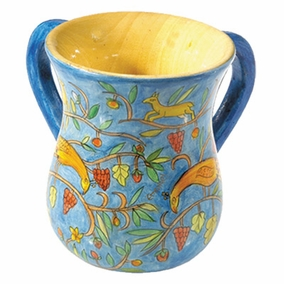 Peacocks Netilat Yadayim Cup (Medium) CAT# NYS-4