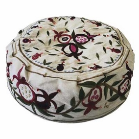 Pomegranates Embroidered Hat - White CAT# HME - 2W
