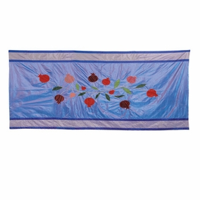 Pomegranates in Blue Table Cloth CAT# TBS- 2 - Large