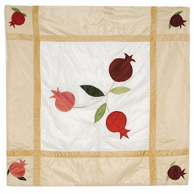 Pomegranates In Gold Square Table Cloth CAT# TB - 1