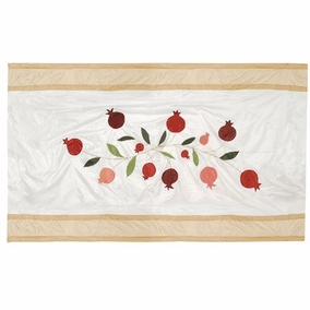 Pomegranates in Gold Table Cloth CAT# TBS- 1 - Small