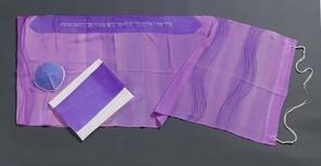 purple waves tallit