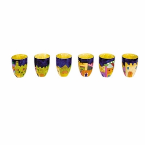 Set of Six Small Wooden Cups CAT# SET6- A