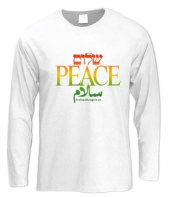Shalom, Peace and Salam Long Sleeve T-Shirt