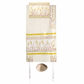"Sheaves of Weat Raw Tallit CAT# TFA- 6, 19"" X 70"""