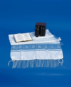 "Silk Talit with wool Tzitziot ""Rabanut"" Kosher  70X180cm"