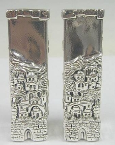 Silver David´s Tower Candleholders