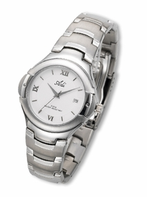 Sporty  nickel-plated brass watch - 398