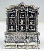 Sterling Silver cabinet miniature