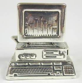 Sterling Silver Computer Card Holder