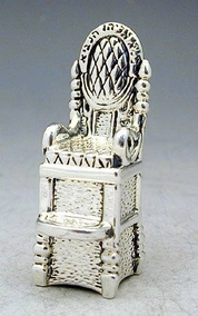 Sterling Silver Elijah Chair Miniature