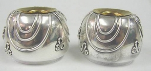Sterling Silver Eye Candlesticks