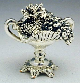 Sterling Silver Fruit Bowl Miniature