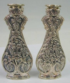 Sterling Silver Grape Candlesticks