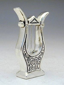 Sterling Silver Harp Miniature