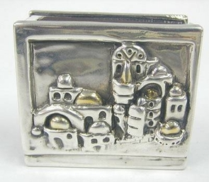 Sterling Silver Jerusalem Match Holder