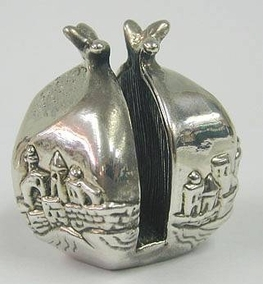 Sterling Silver Jerusalem Pomegranate Card