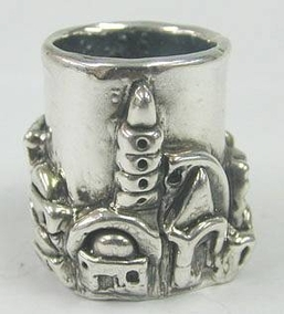 Sterling Silver Jerusalem Toothpick Holder