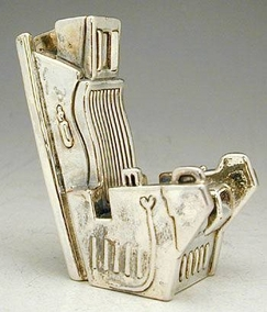Sterling Silver Jet Chair Miniature