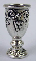 Sterling Silver Kiddush Cup with Leaves