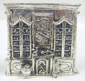 Sterling Silver Library Miniature