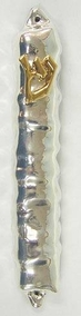Sterling Silver Long Mezuzah